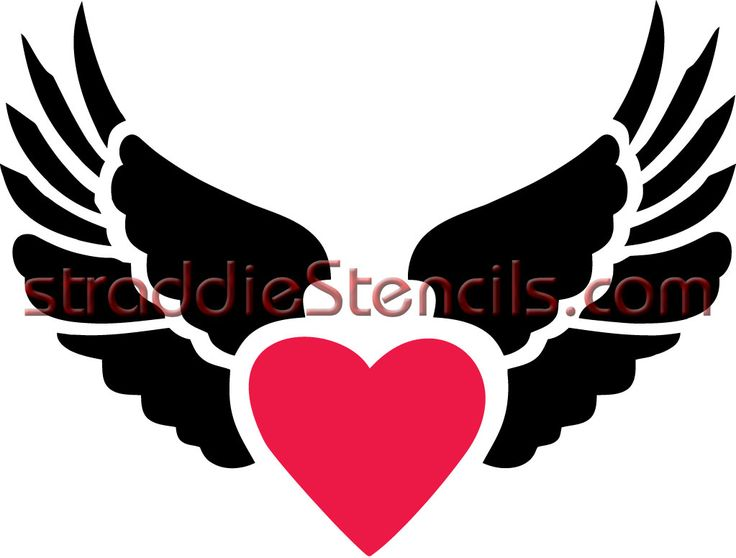 Heart With Wings Clipart