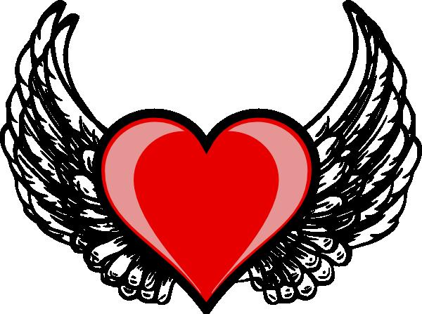 600x447 Heart Wing Logo Clip Art