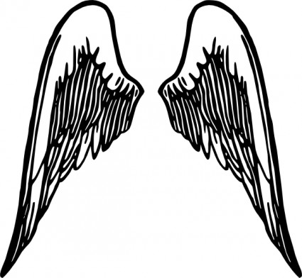 425x392 Heart With Angel Wings Clipart