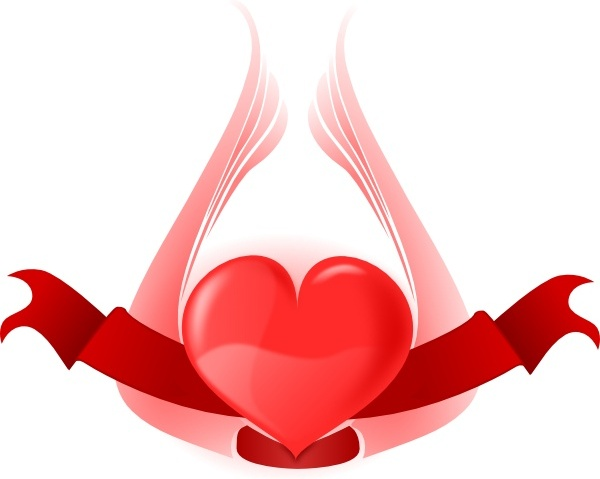 600x479 Heart With Wings Clip Art Free Vector In Open Office Drawing Svg