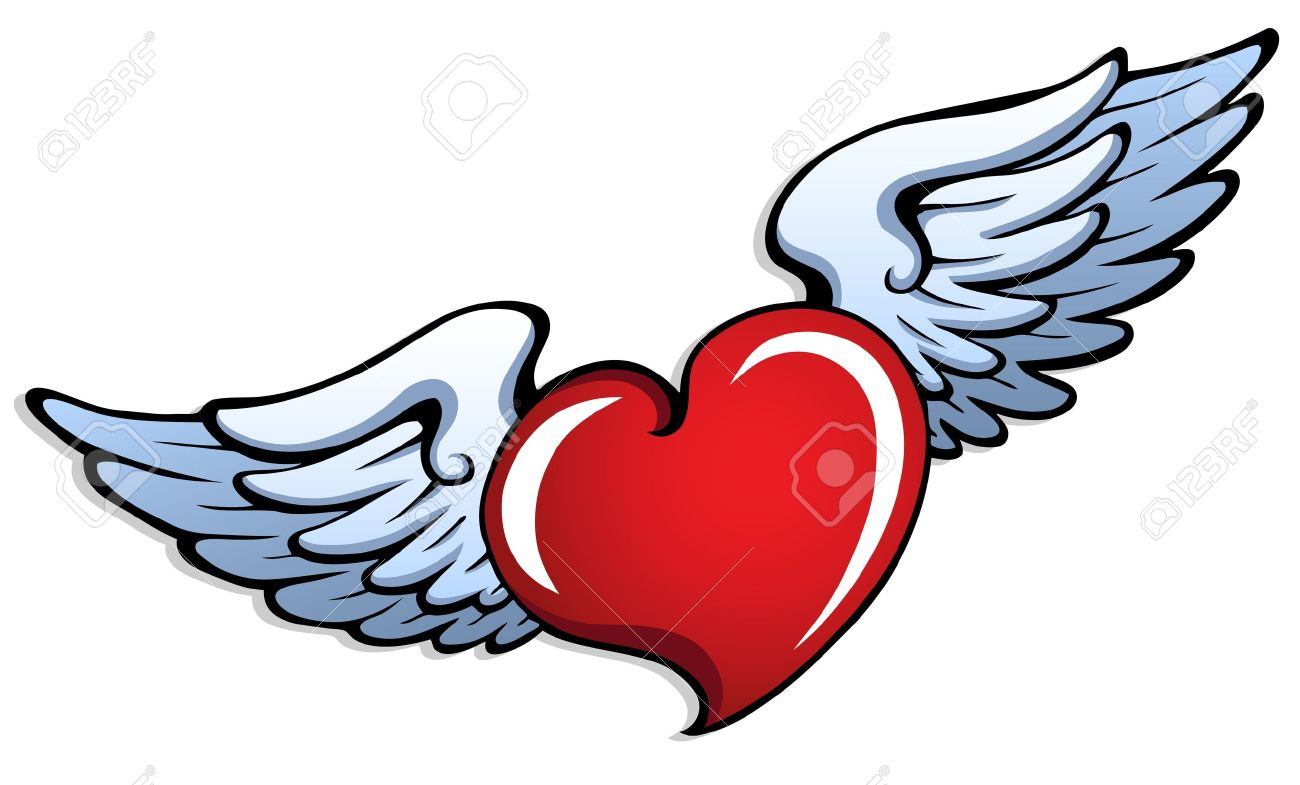 1300x785 Heart Clipart Wing