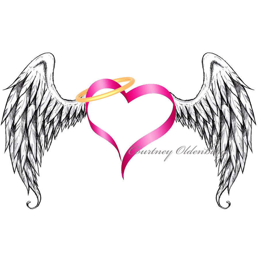 900x900 Heart With Angel Wings Clipart Clipart Kid
