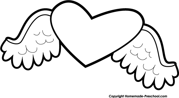 589x323 Heart With Wings Clipart Clipartmonk
