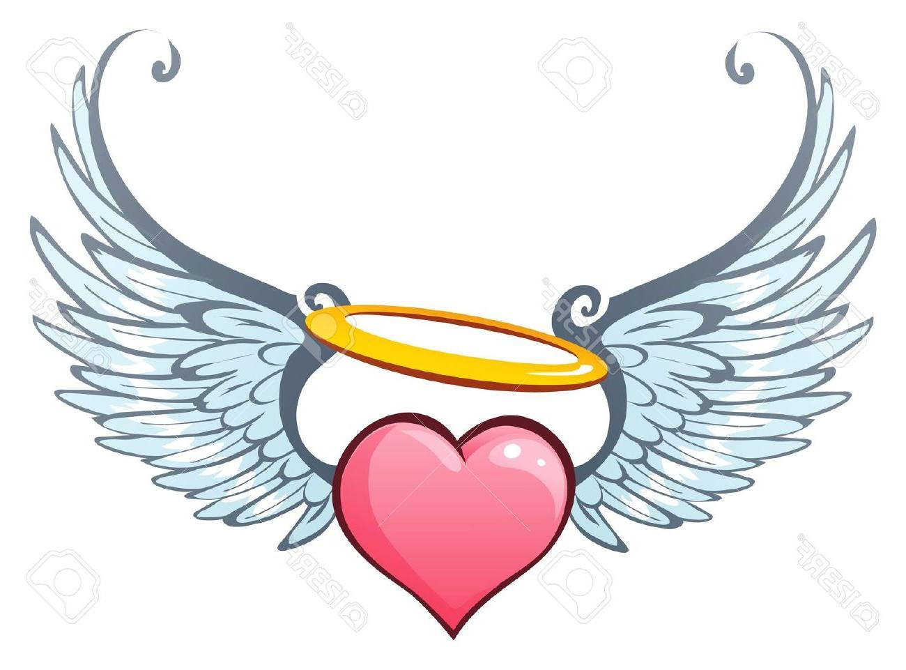 1300x961 Best Heart Angel Wings Vector Art Images Free Vector Art, Images