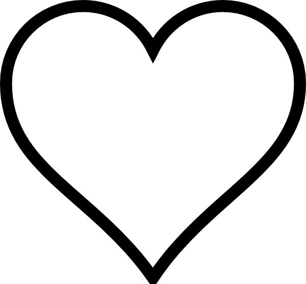 600x557 Hearts Clipart Half Heart