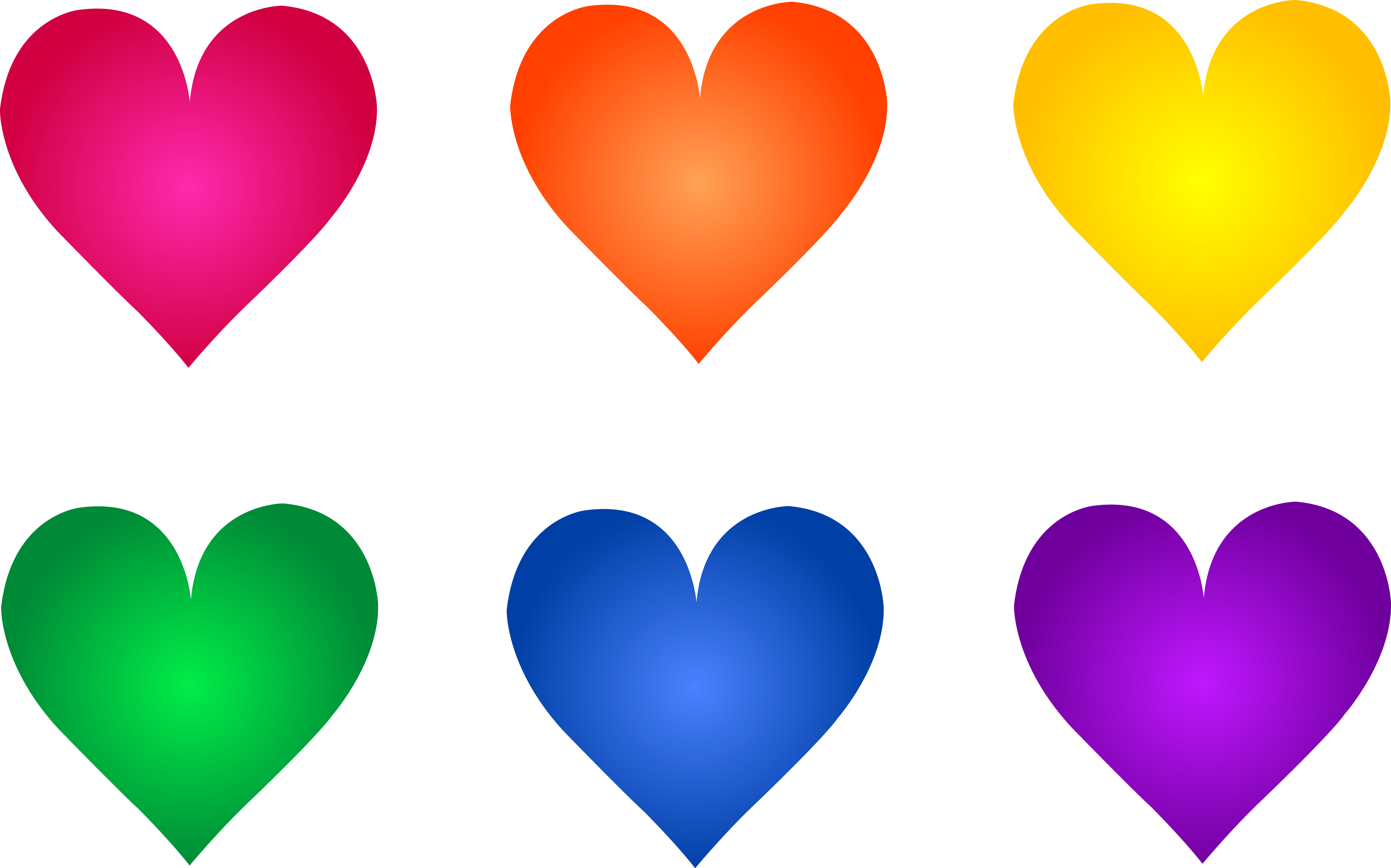 5000x3122 Hearts Clipart Rainbow