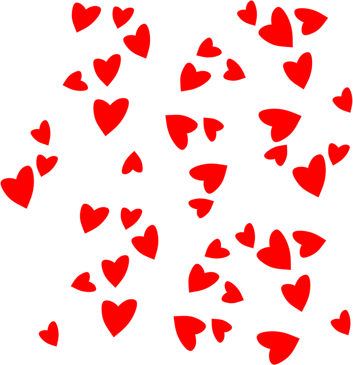 1200x1241 Little Red Valentines Day Hearts Clipart