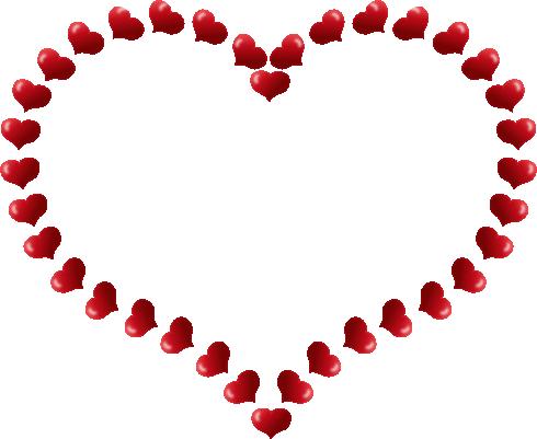 490x401 Clipart Free Hearts