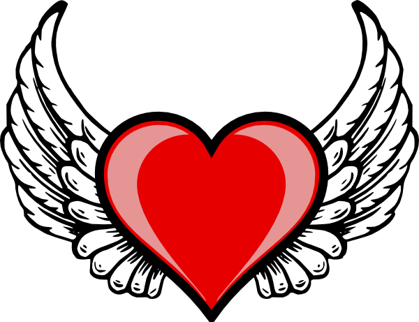 600x461 Heart Wing Logo Clip Art