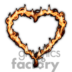 300x300 Flame Heart Clipart