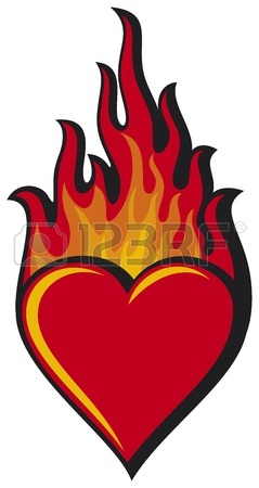 239x450 Flaming Heart Heart In Flame Royalty Free Cliparts, Vectors,