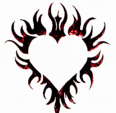 383x375 Flaming Heart Tattoo By Spiked Silverpsycho6