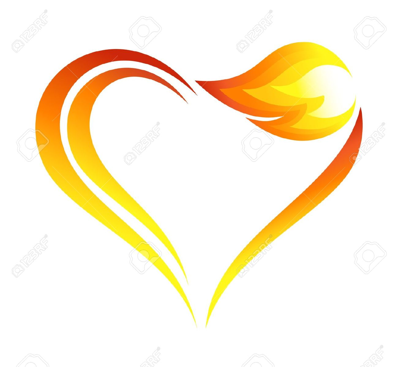 1300x1198 Fire Clipart Heart
