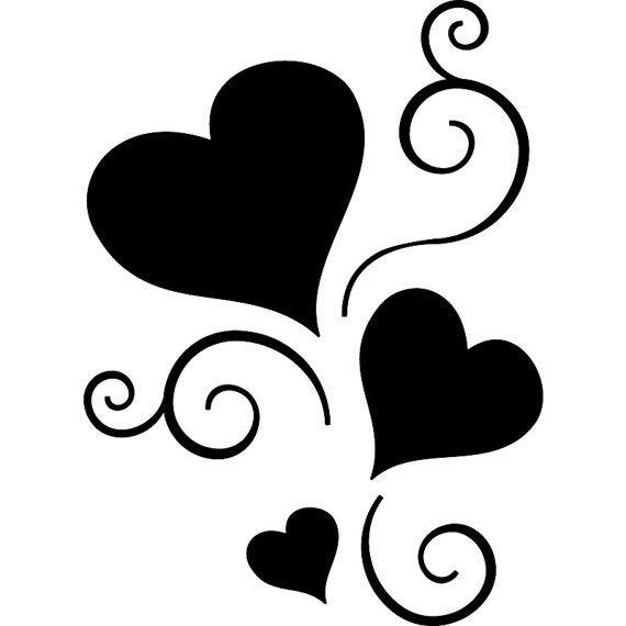 Hearts Black And White