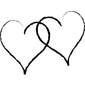 300x300 Clipart Of Two Hearts