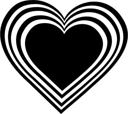 448x400 Heart Clip Art Black And White