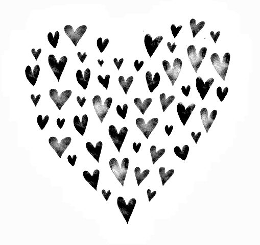 509x480 Best Black White Heart Ideas Black