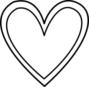 300x294 Heart Black And White Heart Clipart Black And White Double Heart