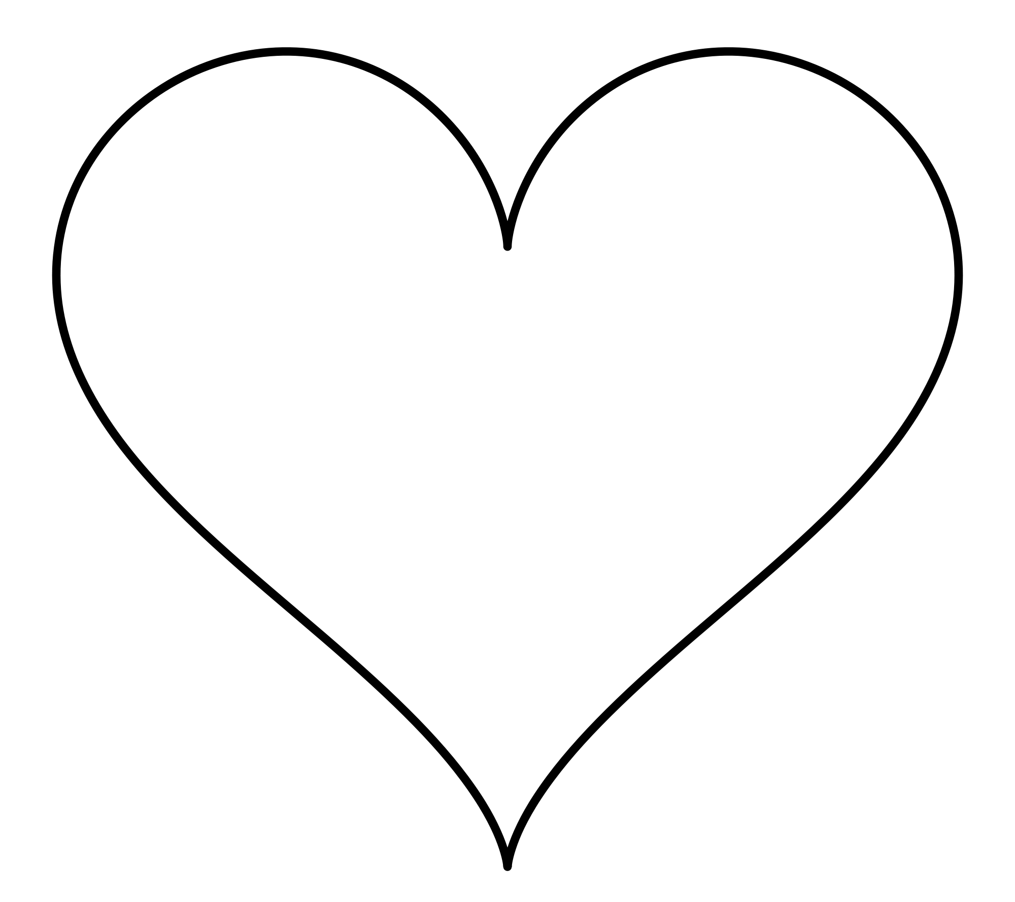 Hearts Black And White Clipart