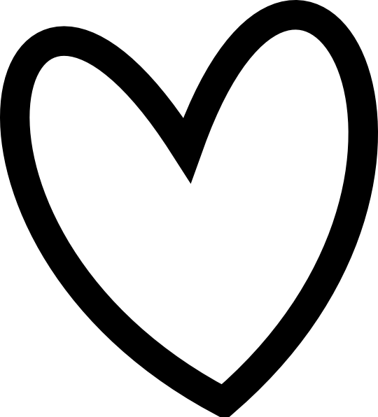 540x596 Black Heart Black And White Clip Art Wikiclipart