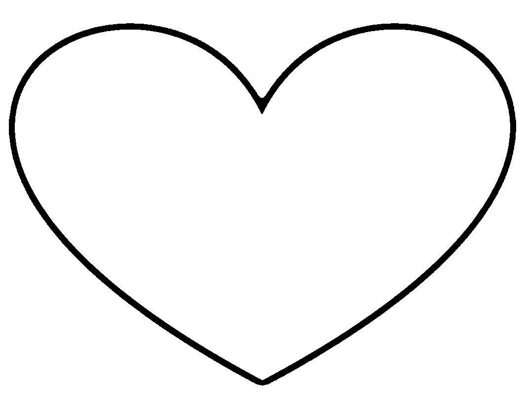 1064x796 Heart Images Clip Art Black And White Allofpicts