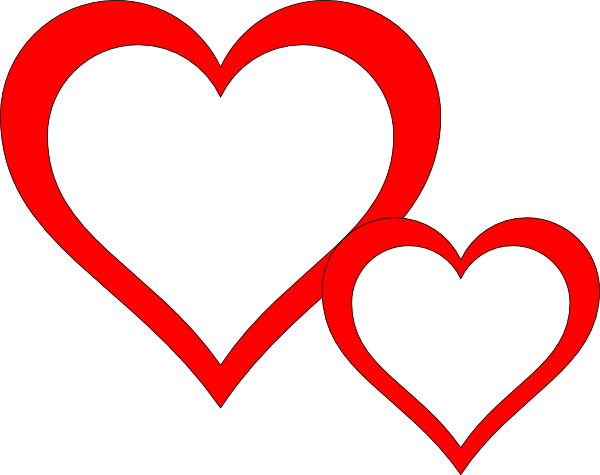 600x475 Two Hearts Clip Art