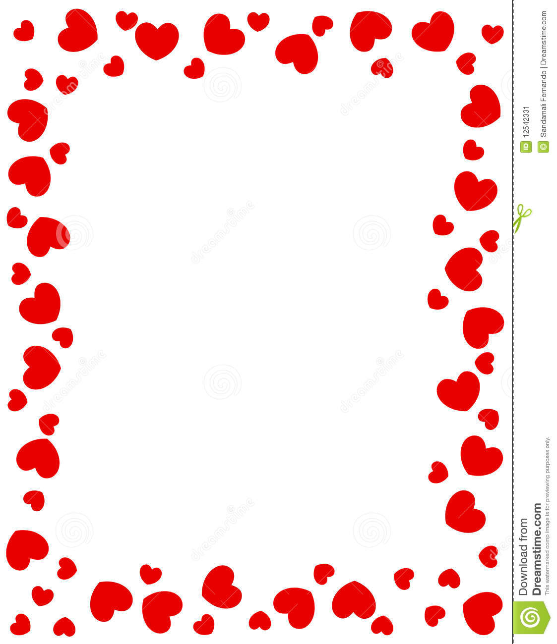 1123x1300 Heart Border Clipart