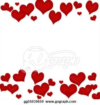 350x370 Hearts Clipart Border