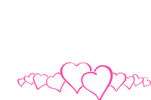 298x198 Hot Pink Heart Border Clip Art