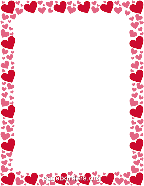 470x608 Pink Heart Clipart Border