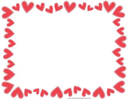 420x325 Free Heart Border Clipart