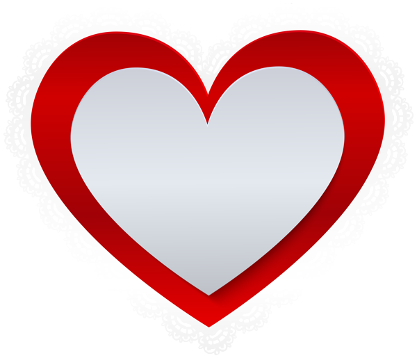 600x515 Heart With Lace Border Png Clip Artu200b Gallery Yopriceville