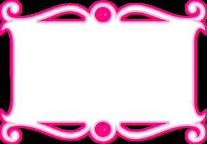 298x207 Pink Heart Border Clip Art