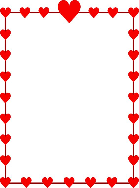 564x759 Border Happy Valentines Day Clipart