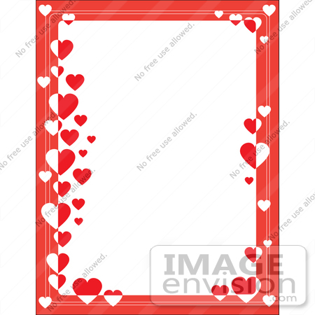 450x450 Cliprt Graphic Of Border Of Red With Rednd White Hearts On