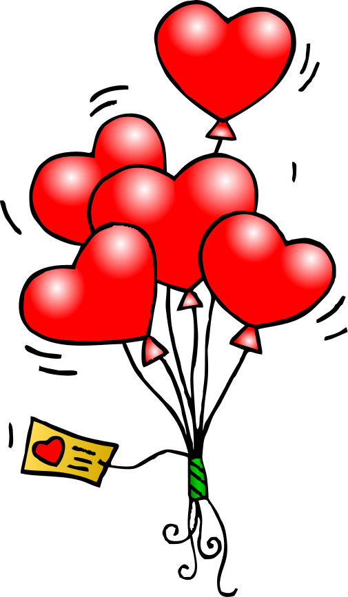 505x867 Heart Balloons T Free Images