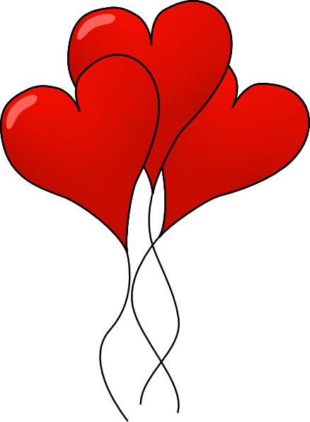 438x596 Heart Ballons Clip Art