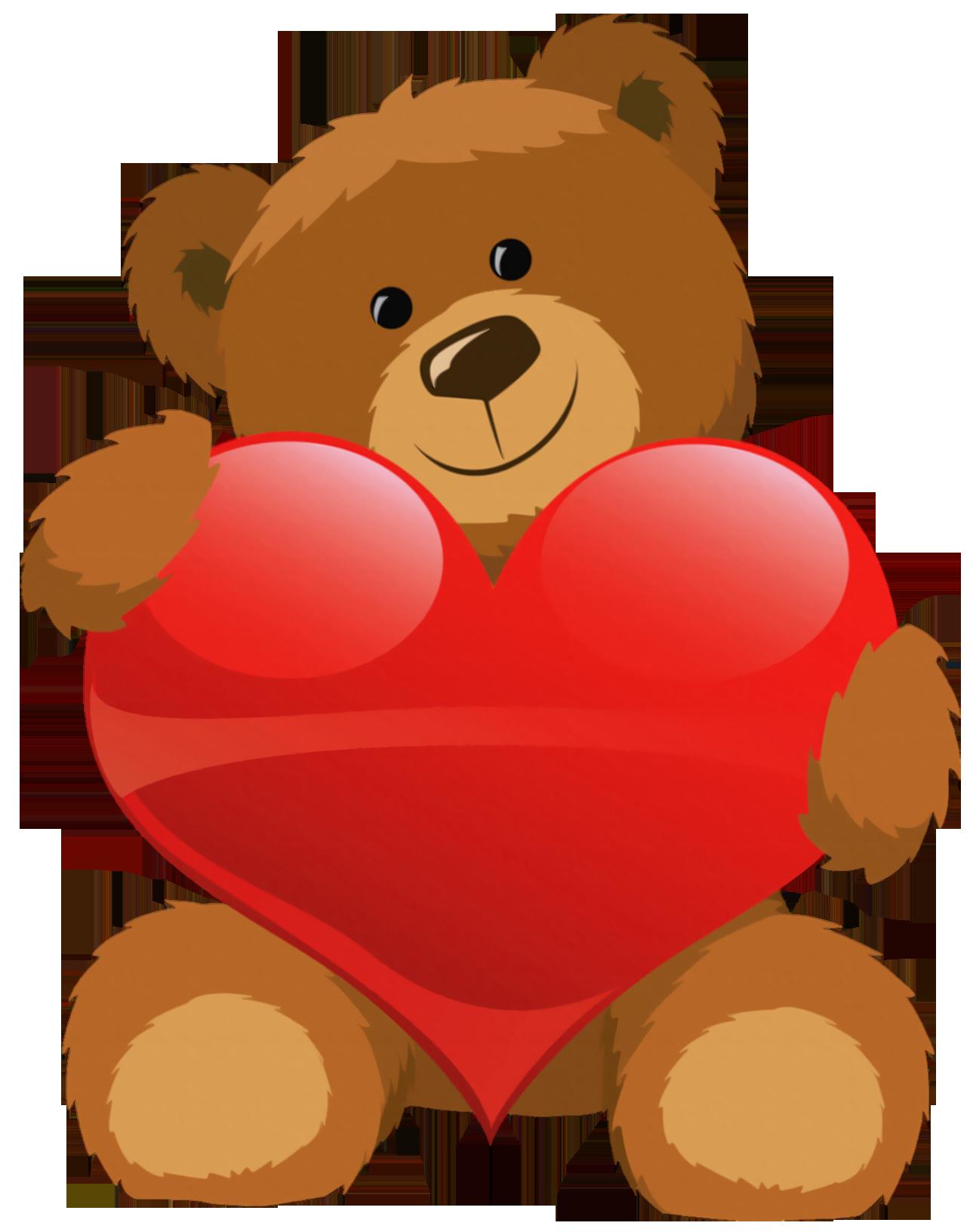 1285x1632 Hearts Clipart Bear