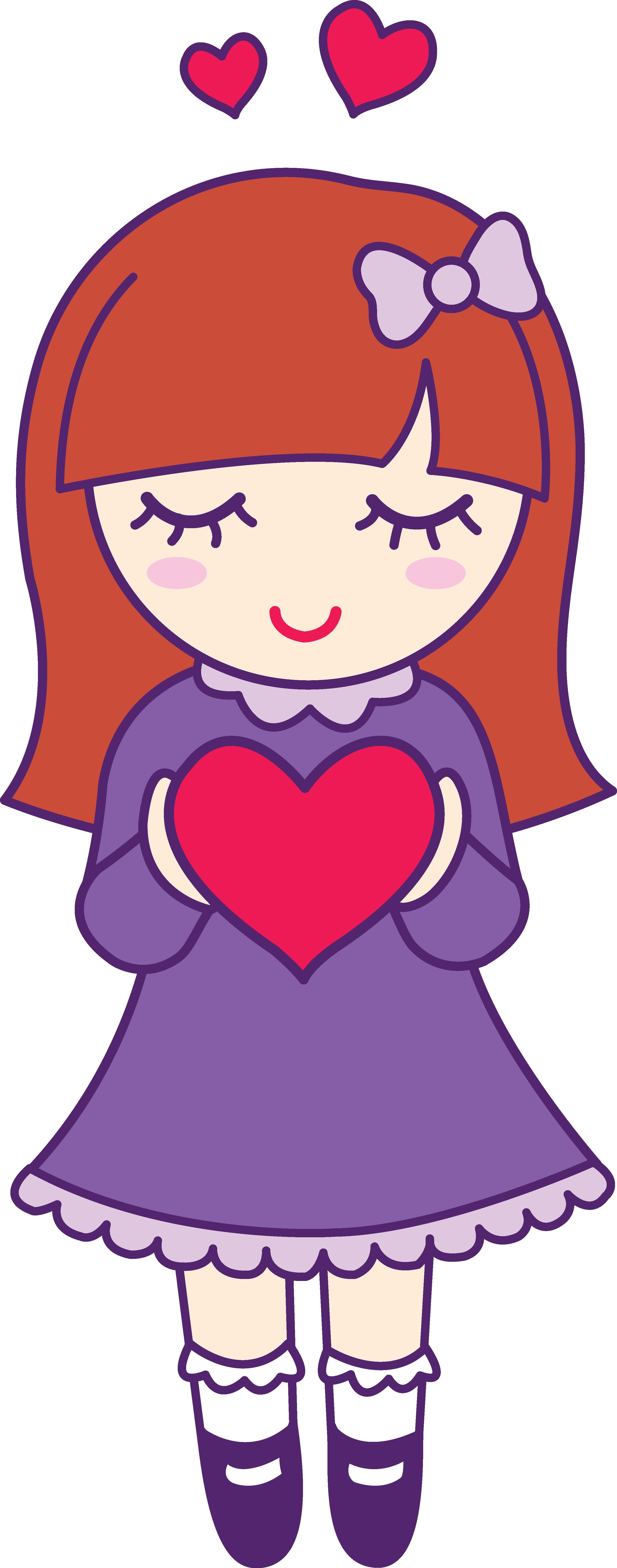 2798x7107 Hearts Clipart Girly
