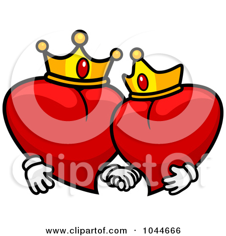 450x470 King And Queen Of Hearts Clipart