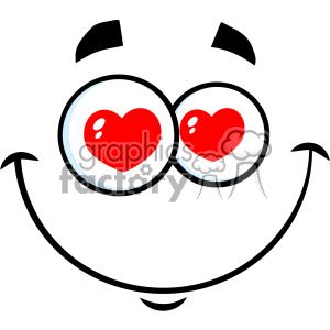 300x300 Royalty Free 10869 Royalty Free Rf Clipart Smiling Love Cartoon