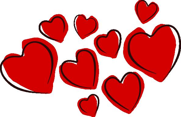 594x386 Sketchy Hearts Clip Art