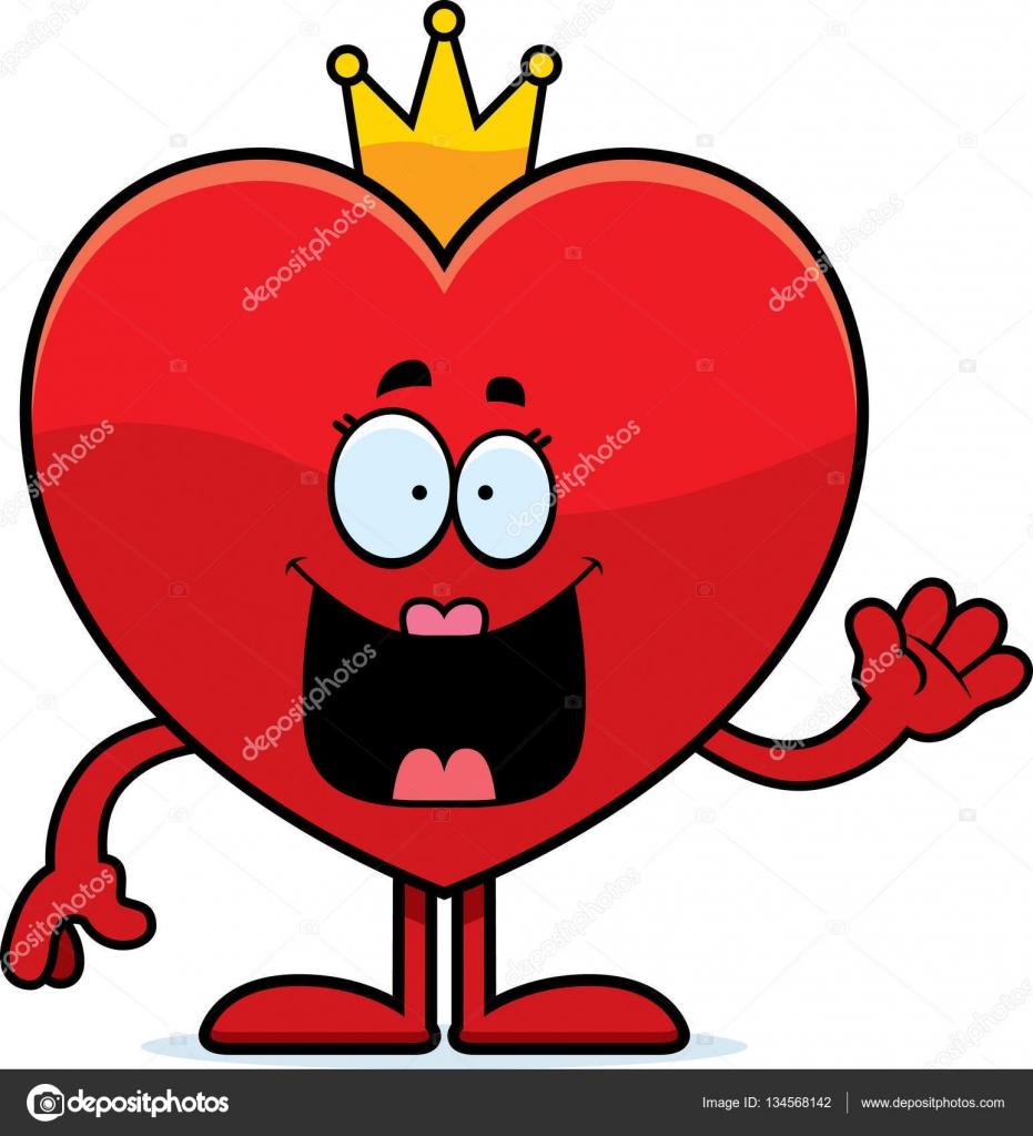 931x1024 Cartoon Queen Of Hearts Waving Stock Vector Cthoman