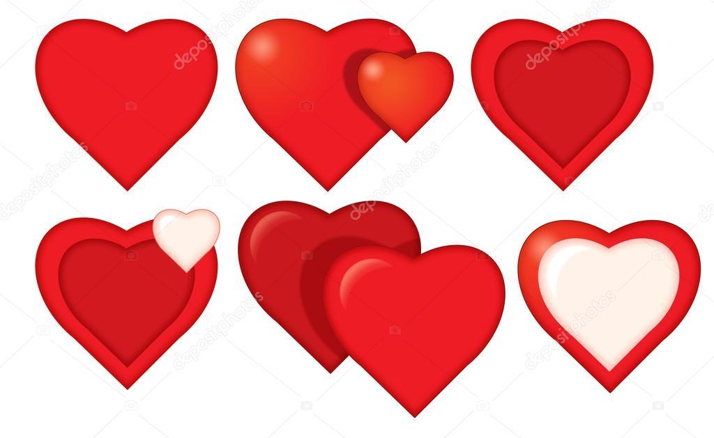 1024x629 Cartoon Hearts Set Stock Photo Agaes8080