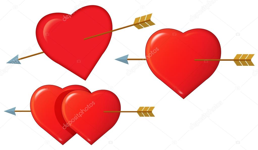 1023x597 Cartoon Hearts Set Stock Photo Agaes8080