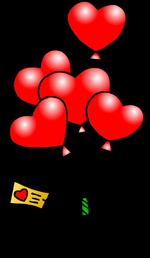 505x867 Valentine's Day Clipart Heart Cartoon