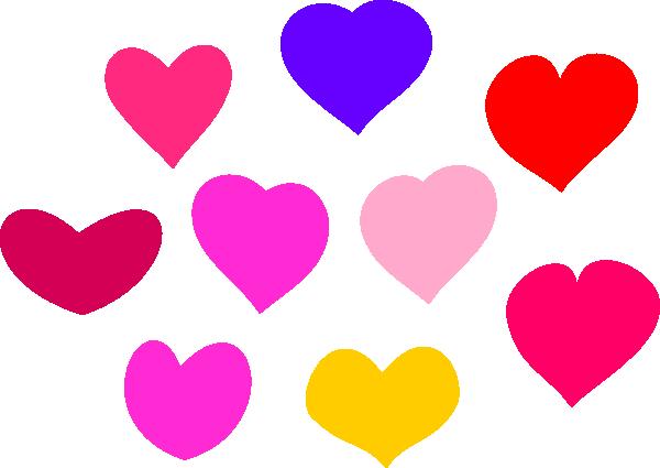 600x425 Bundle Of Hearts Clip Art