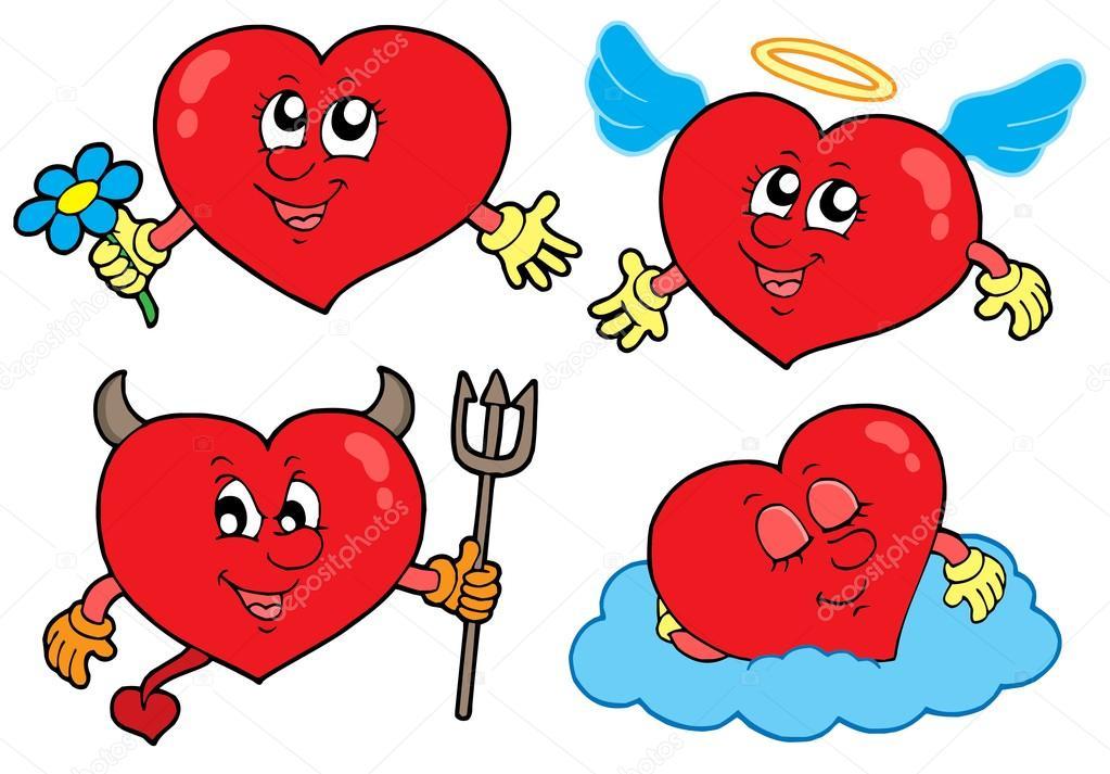 1023x713 Cartoon Hearts Collection Stock Vector Clairev