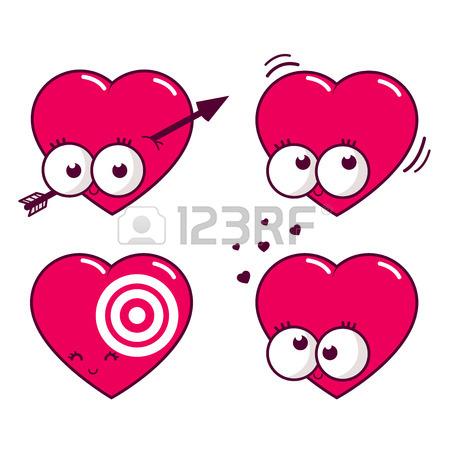 450x450 Cartoon Hearts Royalty Free Cliparts, Vectors, And Stock