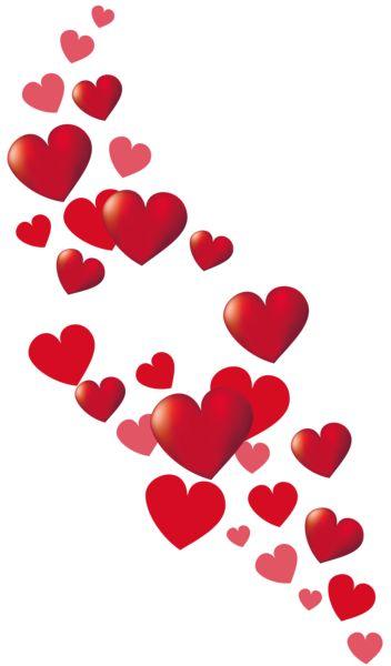 352x600 Valentine Hearts Clip Art